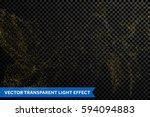 glitter gold particles light... | Shutterstock .eps vector #594094883