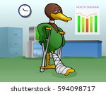 illustration of a lame duck... | Shutterstock .eps vector #594098717