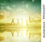 silhouette of international...   Shutterstock . vector #594101057