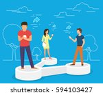 sharing data concept vector... | Shutterstock .eps vector #594103427