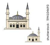 mosque icon vector | Shutterstock .eps vector #594104693