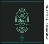 Beer Label  Line Beer Logo  Pu...