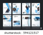 business vector set. brochure... | Shutterstock .eps vector #594121517