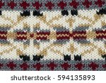 knit closeup. | Shutterstock . vector #594135893