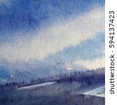 blue abstract grunge texture... | Shutterstock . vector #594137423