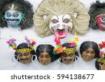 Colorful Chhau Mask  ...