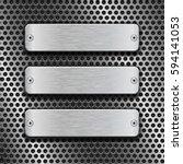 metal rectangle plates on... | Shutterstock .eps vector #594141053