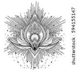 vector ornamental lotus flower  ... | Shutterstock .eps vector #594155147