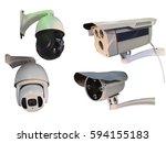 outdoor cctv group of... | Shutterstock . vector #594155183