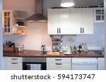 details of a kitchen   at home .... | Shutterstock . vector #594173747
