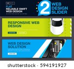 web slider or banners design... | Shutterstock .eps vector #594191927