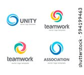 collection of vector logos for... | Shutterstock .eps vector #594199463