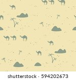 seamless pattern with camels | Shutterstock .eps vector #594202673
