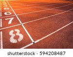 track for athletics for... | Shutterstock . vector #594208487