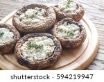 Baked Mushrooms Stuffed With...