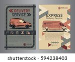 set of express delivery service ... | Shutterstock .eps vector #594238403