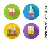 flat vector chemical liquid in...   Shutterstock .eps vector #594238487