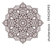 mandala. ethnic decorative... | Shutterstock .eps vector #594242993