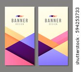 set of banner templates. bright ... | Shutterstock .eps vector #594253733