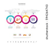 business infographic business... | Shutterstock .eps vector #594264743