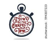 hand drawn inspirational badge... | Shutterstock .eps vector #594307223