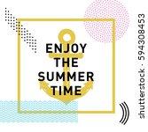 memphis style inspirational... | Shutterstock .eps vector #594308453