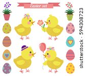 vector decorative elements set... | Shutterstock .eps vector #594308723