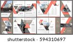 abstract template for a4... | Shutterstock .eps vector #594310697