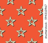 retro stars pattern. abstract... | Shutterstock .eps vector #594310967