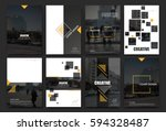 abstract a4 brochure cover... | Shutterstock .eps vector #594328487