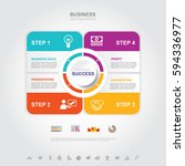 business infographic business... | Shutterstock .eps vector #594336977