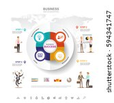 business infographic business... | Shutterstock .eps vector #594341747