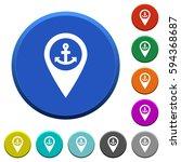 sea port gps map location round ... | Shutterstock .eps vector #594368687