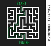 maze game with solution.... | Shutterstock .eps vector #594374573