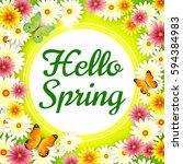 Spring. Background. Spring Card.