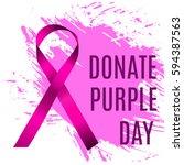 donate purple day | Shutterstock .eps vector #594387563