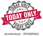 today only. stamp. sticker.... | Shutterstock .eps vector #594389063