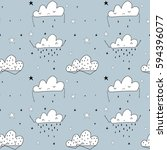 clouds pattern vector. | Shutterstock .eps vector #594396077