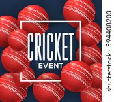 cricket concept bubbles with... | Shutterstock .eps vector #594408203