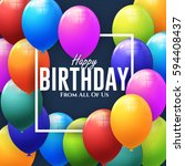 happy birthday concept... | Shutterstock .eps vector #594408437