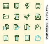 document web icons set | Shutterstock .eps vector #594415943