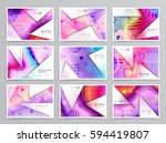 colorful geometric brochure... | Shutterstock .eps vector #594419807