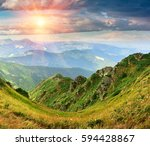beautiful colorful landscape of ...   Shutterstock . vector #594428867
