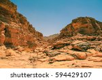 colored canyon of egypt....   Shutterstock . vector #594429107