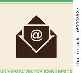 email vector icon. | Shutterstock .eps vector #594448937