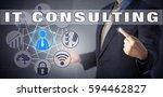 male corporate advisor in blue... | Shutterstock . vector #594462827