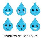 cute happy  emoji weather clip...   Shutterstock .eps vector #594472697