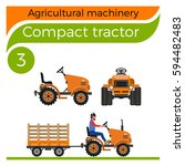 agricultural machinery  compact ... | Shutterstock .eps vector #594482483