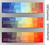 abstract colorful set of shiny...   Shutterstock .eps vector #594494183