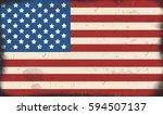 american flag vintage rusty... | Shutterstock .eps vector #594507137